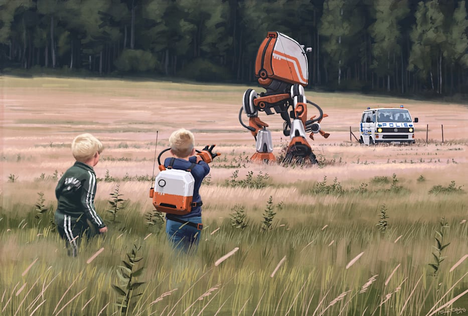 Simon Stålenhag's sci-fi drawings are iconic. But how do you turn artwork into a TV show?