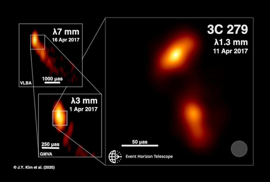 Scientists visualize a black hole plasma jet in unprecedented detail thumbnail