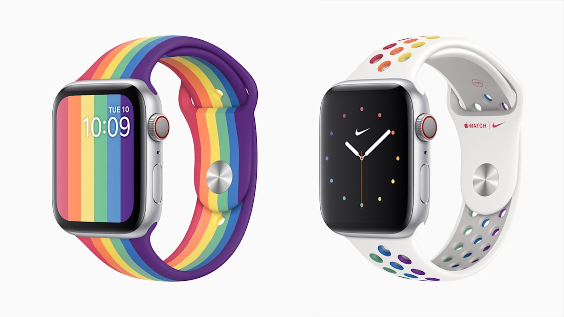 Apple's two new Pride-themed Watch straps include one from Nike