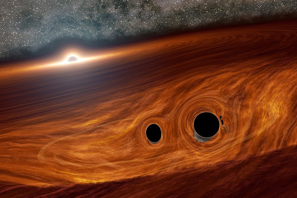 Astronomers may have spotted light from colliding black holes - Engadget