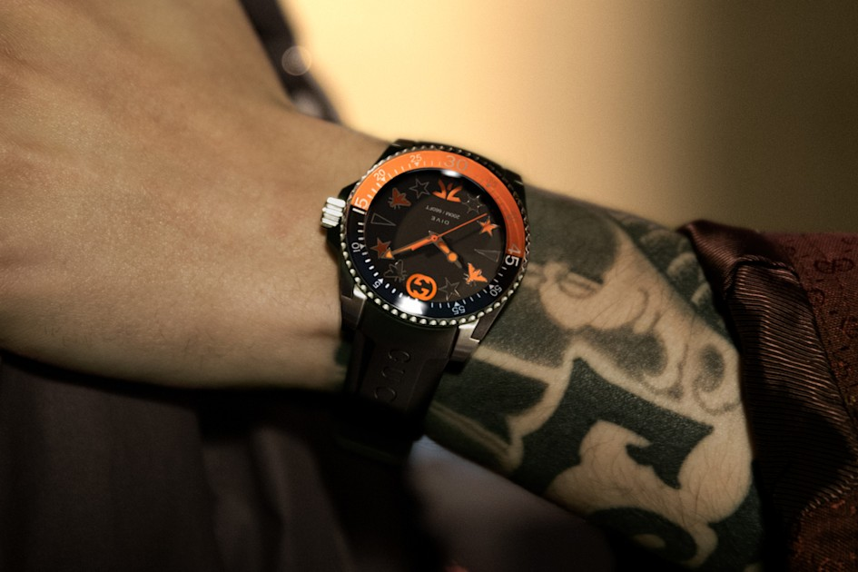 Image of article 'Gucci takes on esports fashion with a $1,600 Fnatic dive watch'