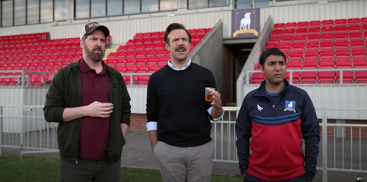 Apple TV's Ted Lasso turns a viral video into a pretty good sitcom thumbnail