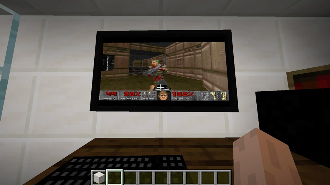 You can play 'Doom' inside 'Minecraft' using a virtual PC 1