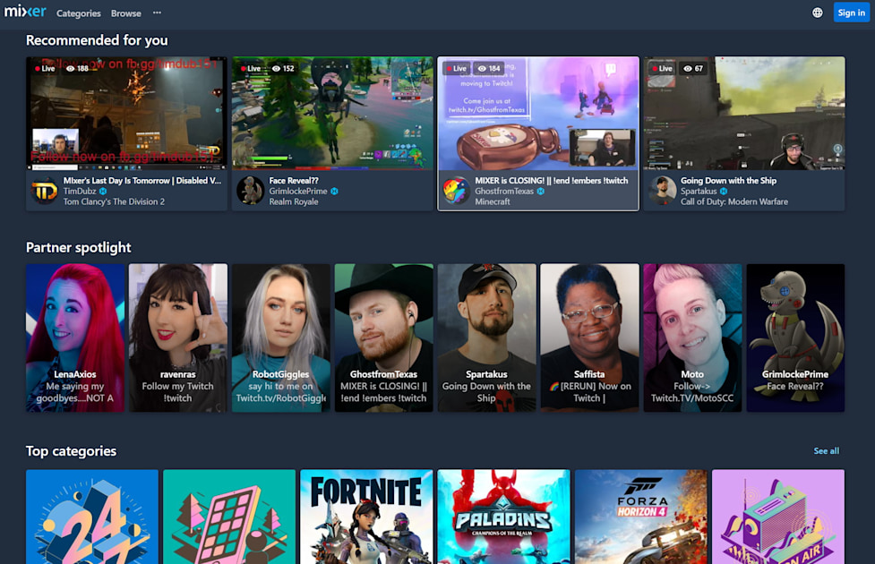 On Mixer's last day, all eyes were on Twitch thumbnail