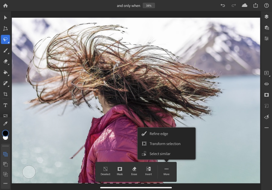 Adobe Photoshop for iPad gets better at selecting objects with complex edges 1