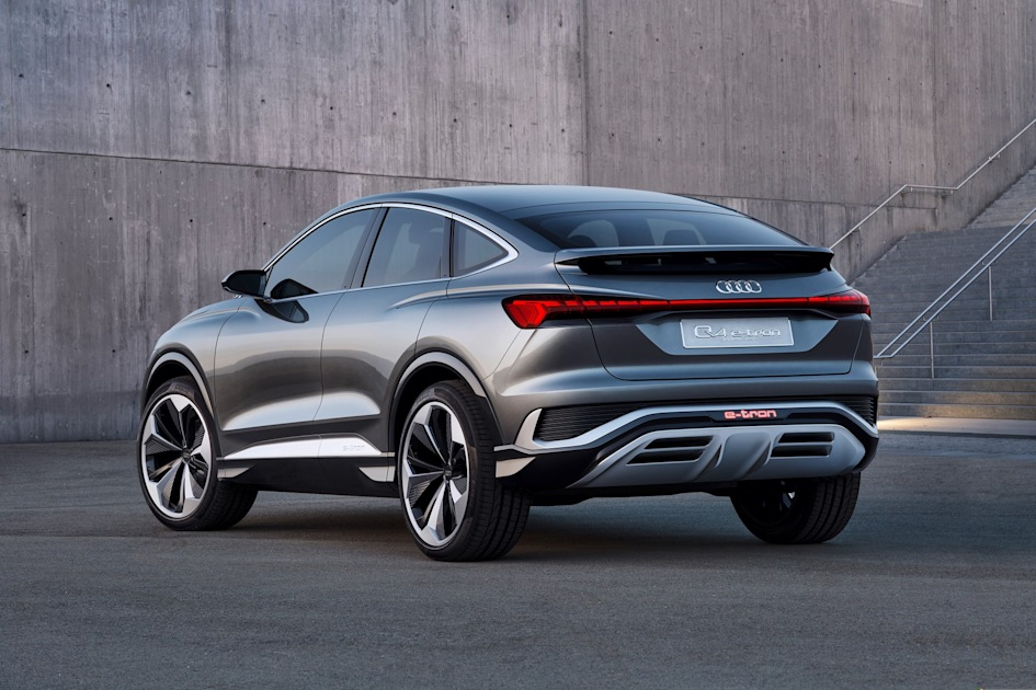Audi unveils the 'sexy back' Q4 Sportback E-Tron coupé concept