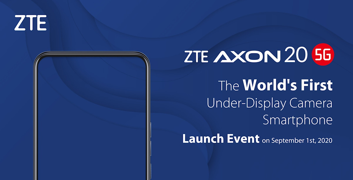 ZTE's Axon 20 5G smartphone will have the first under-display camera – Engadget