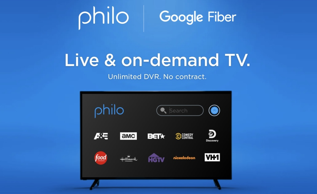 Google Fiber adds Philo streaming as an option next to YouTube and fubo 1