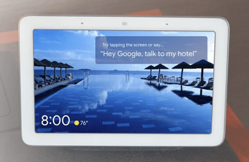 Google's Nest Hub could be your next hotel concierge