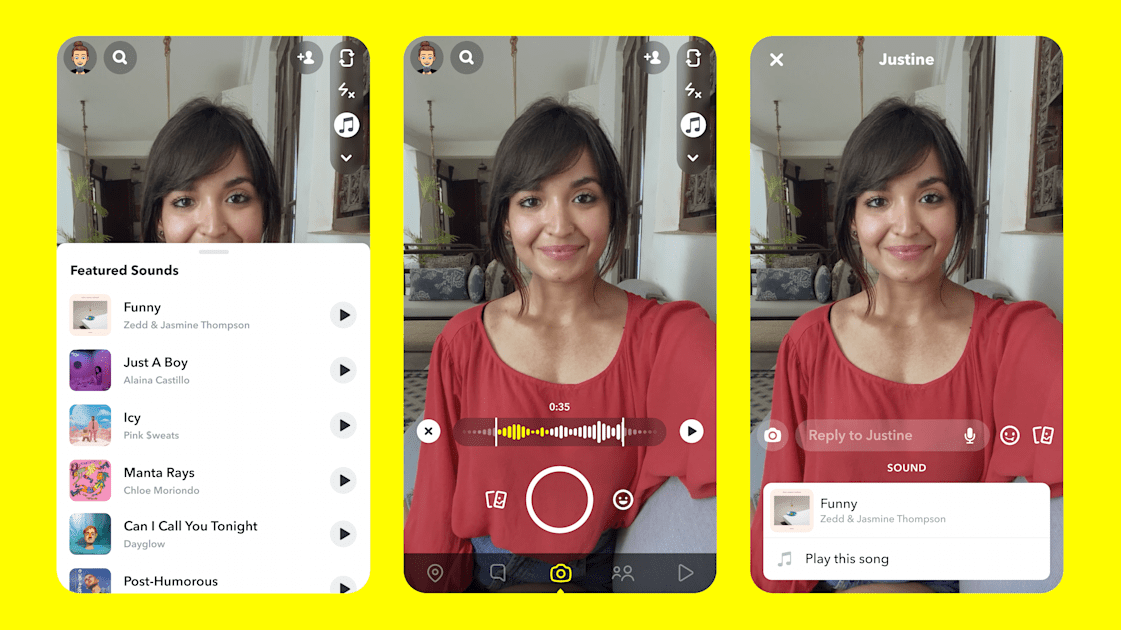 Snapchat targets TikTok by adding music to snaps