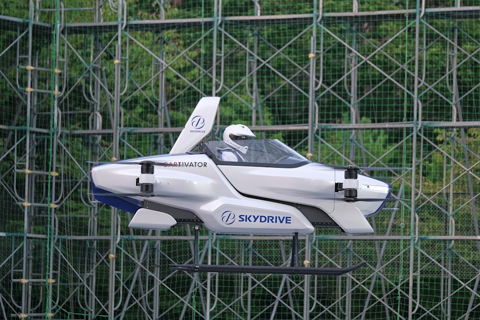 Watch a Toyota-backed flying car's first public, piloted test flight