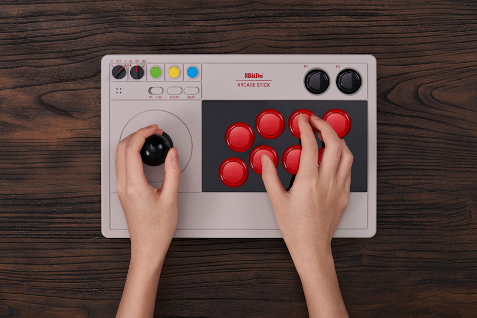 8BitDo is making a customizable arcade stick for Switch and PC players 1