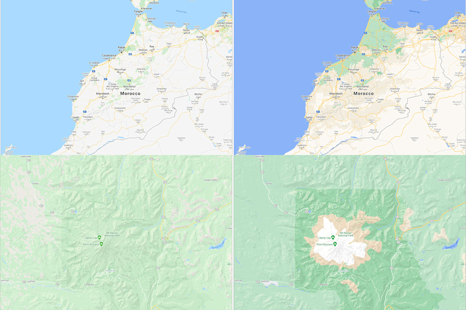 Google Maps update makes it easier to see an area's actual landscape