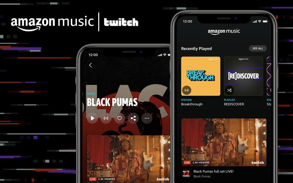 Amazon Music adds artist Twitch streams