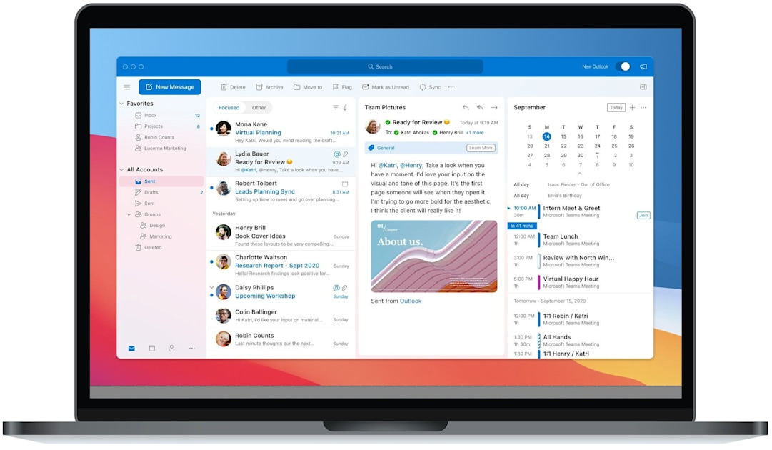 Microsoft gives Outlook for Mac a facelift for Big Sur