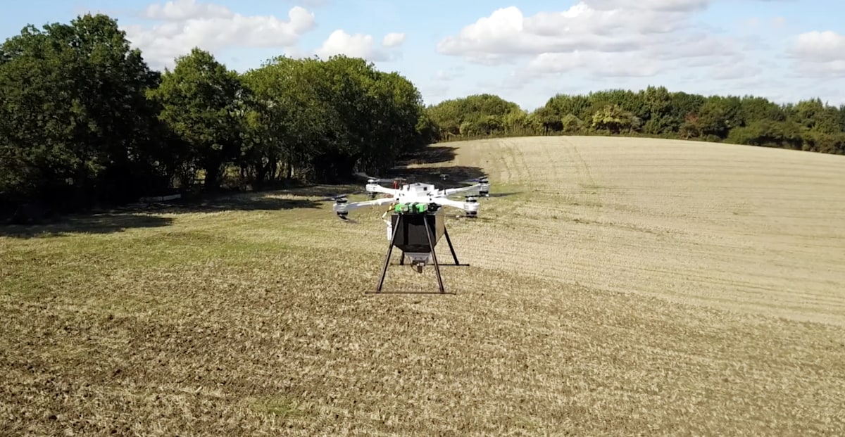 Dendra System's seed-spitting drones rebuild forests from the air