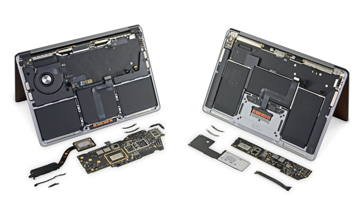 iFixit digs into the M1 MacBooks and finds they haven't changed much – Engadget