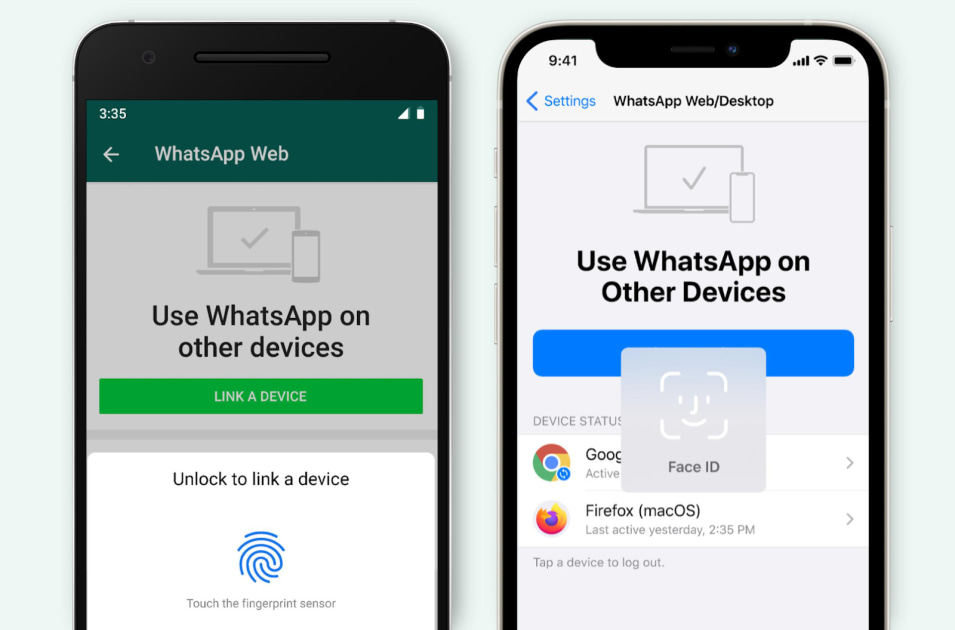 WhatsApp now requires biometric authentication for PC and web access