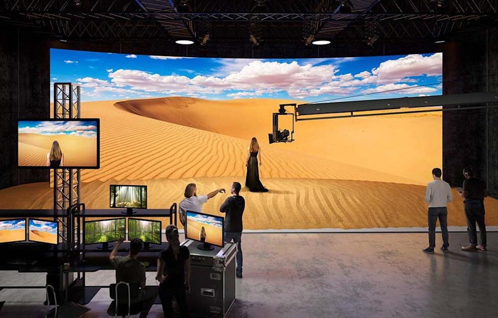 Sony finds a home for Crystal LED screens: virtual set backgrounds | Engadget