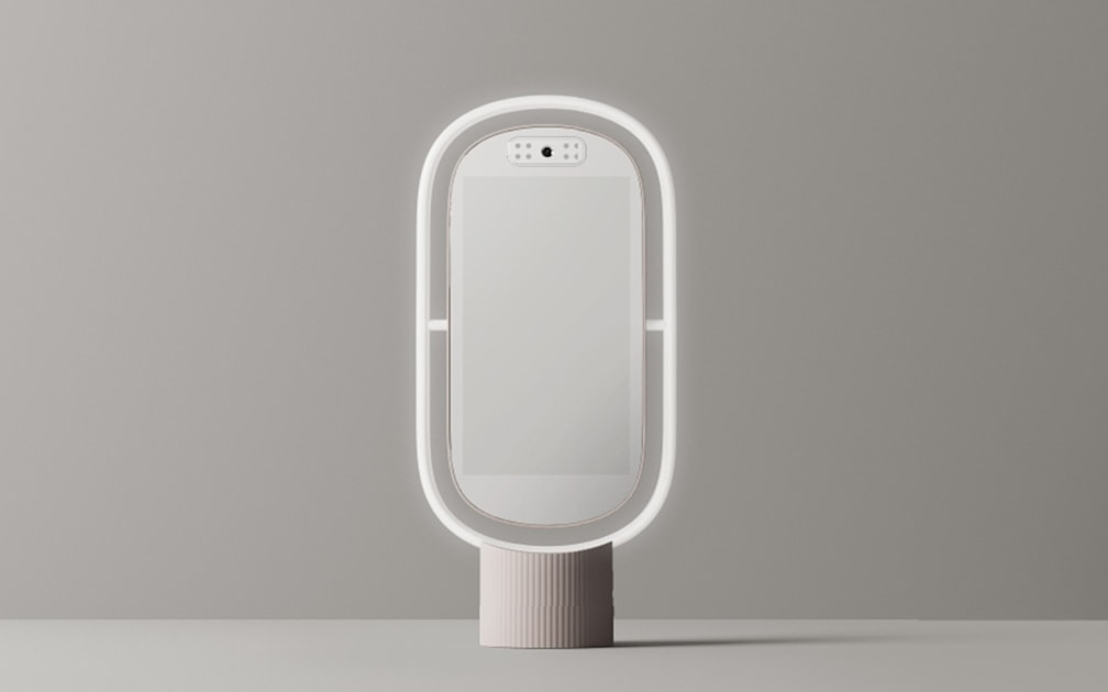 Lululab's Lumini PM is smart mirror that offers skincare suggestions
