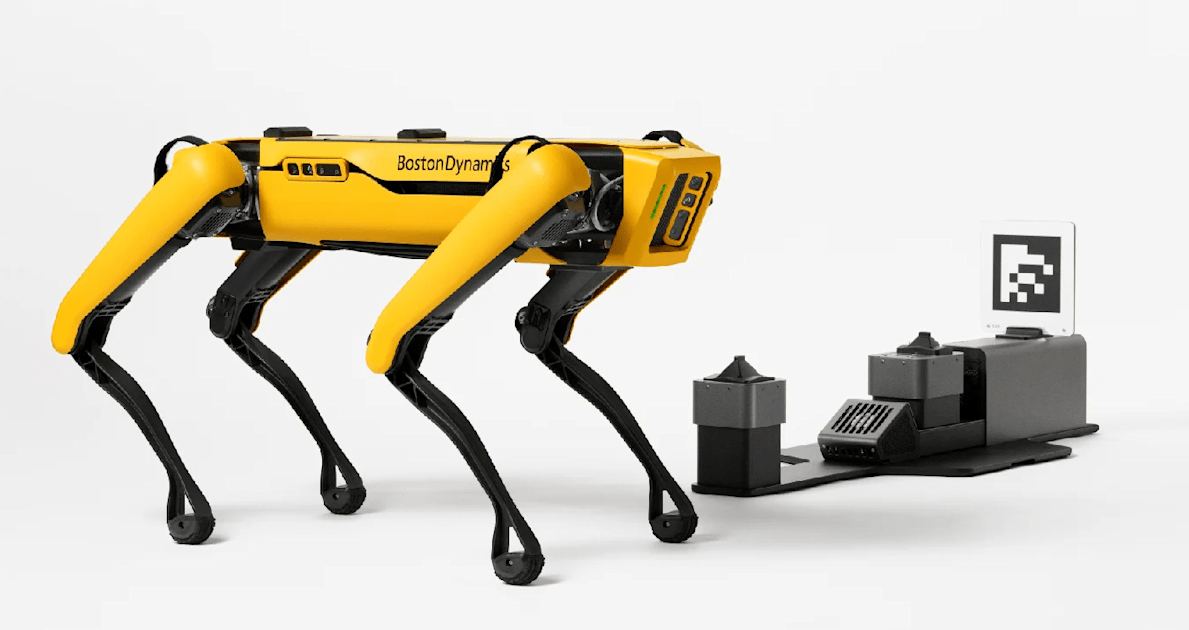 Boston Dynamics trains Spot the robot dog to charge itself