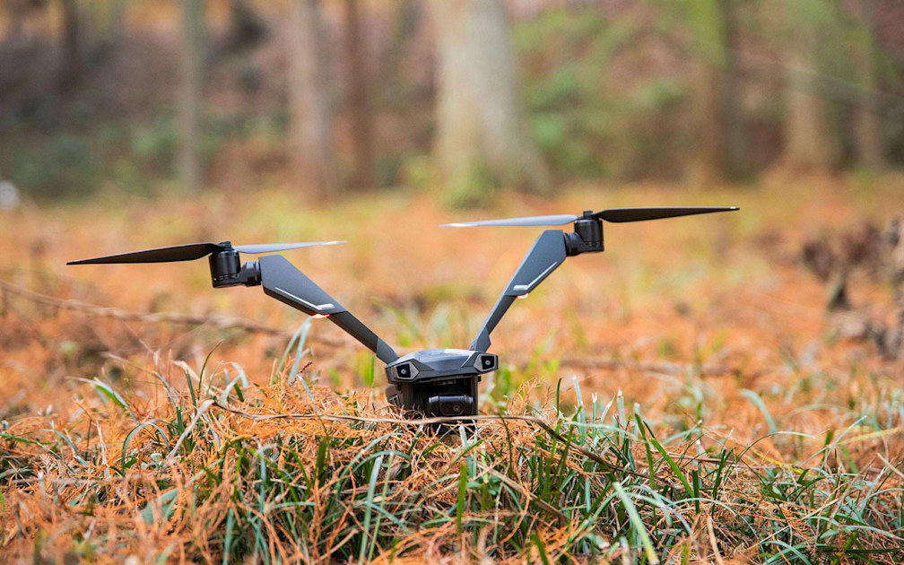 V-Coptr Falcon is a bi-copter drone with a 50-minute flight time