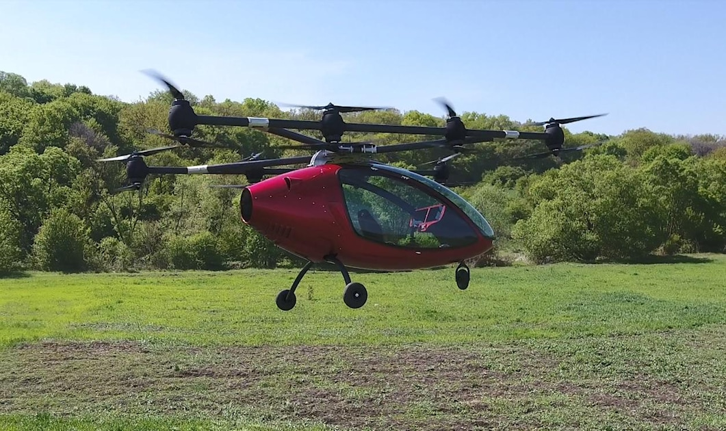 Passenger Drone lives up to its name with manned flight