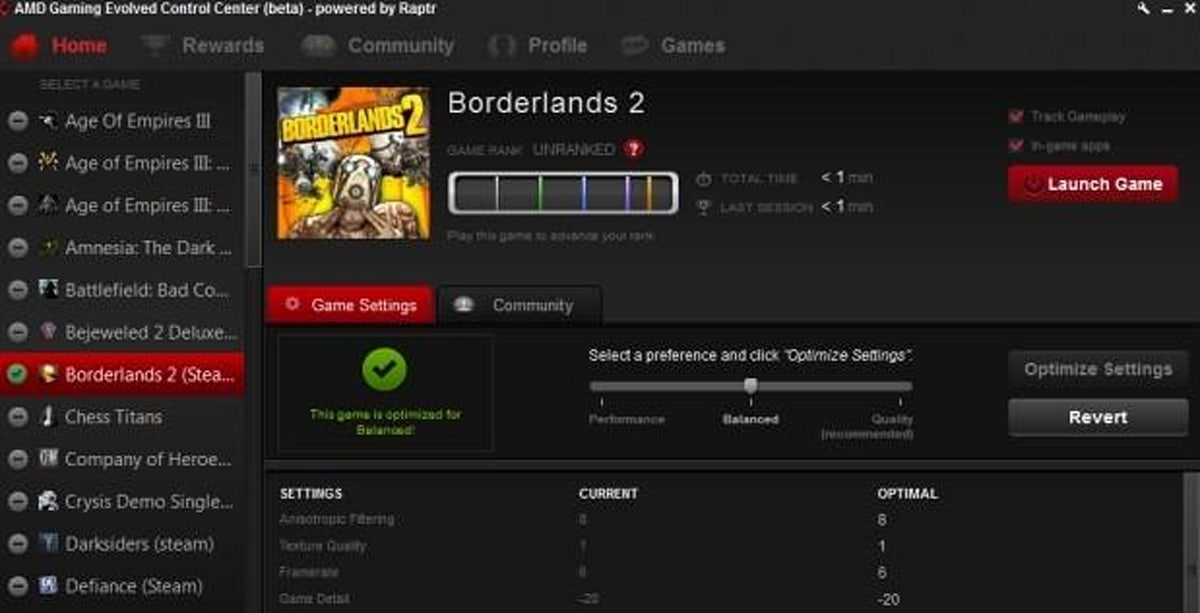 Amd And Raptr Create Pc Gaming Suite To Tweak Settings Dole Out Prizes And Stream Over Twitch Engadget