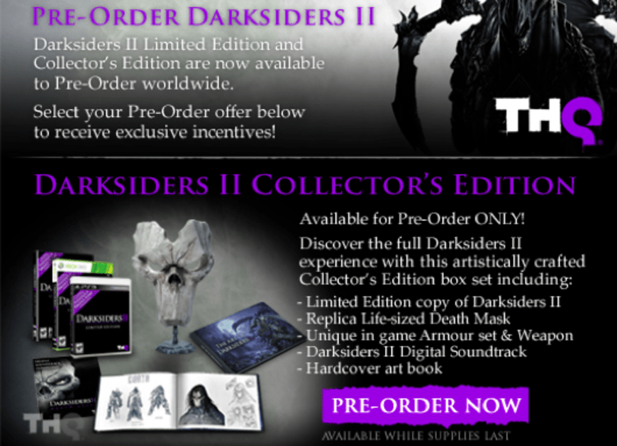 Darksiders 2 Pre Orders Upgraded To Limited Edition Collector S Edition Detailed Engadget