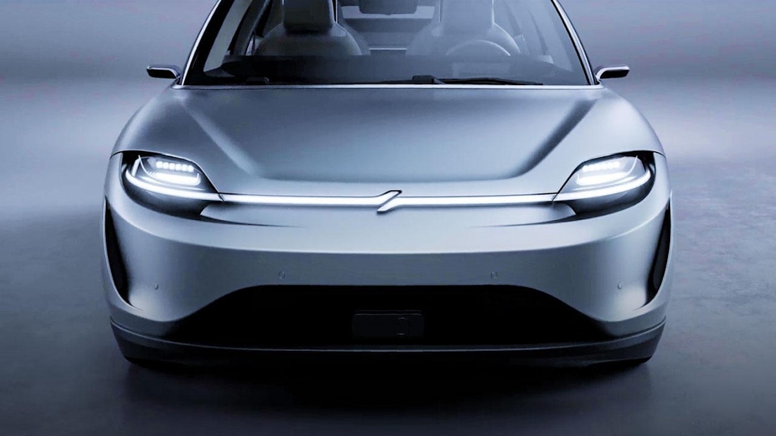 Sony showed off an electric car to highlight its automotive technologies