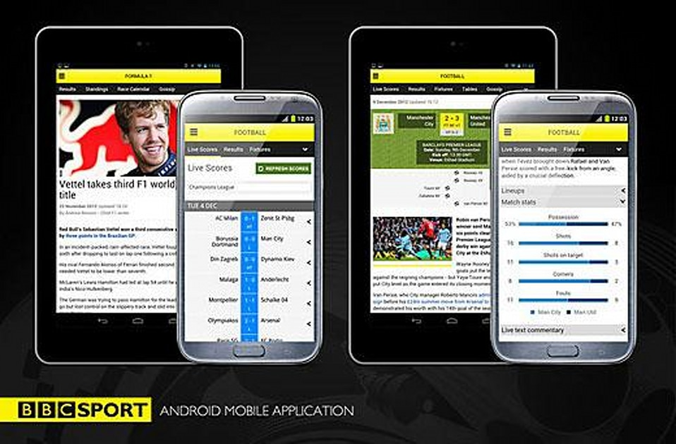 Bbc Sport App Launches On Android Phones Includes Support For 7 Inch Tablets Engadget