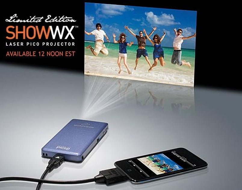 Microvisions Show WX laser pico projector available to