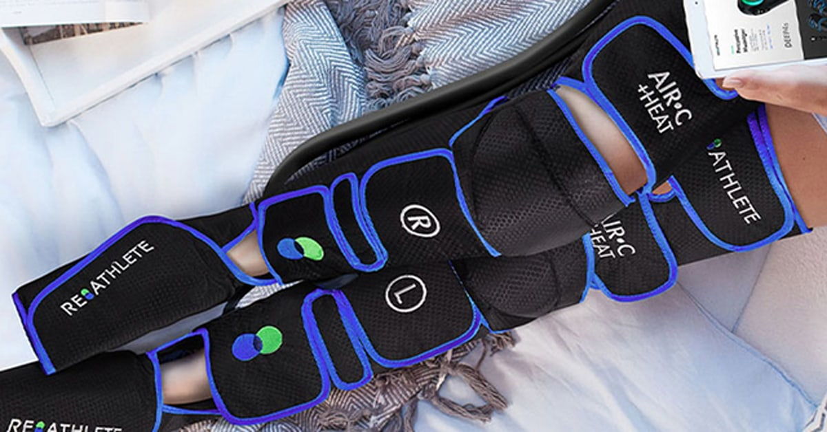 Relieve leg pain and tension with this compression massager