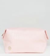 Mi-Pac Exclusive Pink Faux Croc Toiletry
