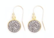 gold & gray jewelry Gray Druzy Drops