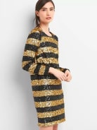 GAP Long sleeve sequin shift dress