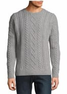 Black Brown 1826 Cable-Knit Wool Sweater