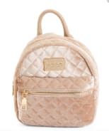 BEBE Maria Velvet Quilted Mini Backpack