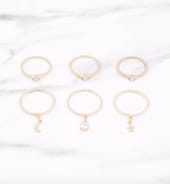 TOBI Clarissa Gold Ring Set