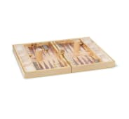 AERIN Croc Embossed Backgammon Set