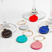 Leatherette Wine Charms
