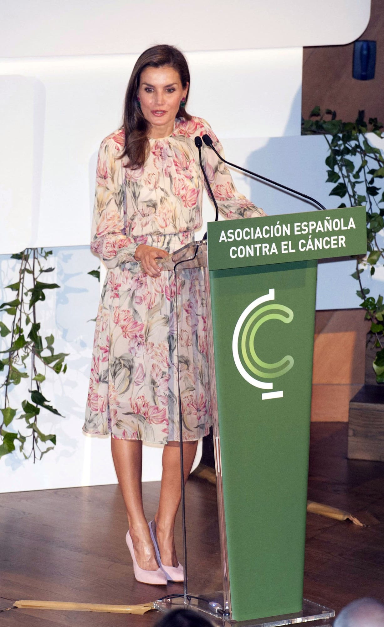 Queen Letizia Attends The 'Cancer Research World Day' Event