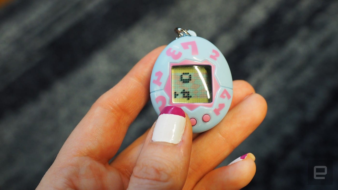 The 20th anniversary Tamagotchi is smaller but still easy to