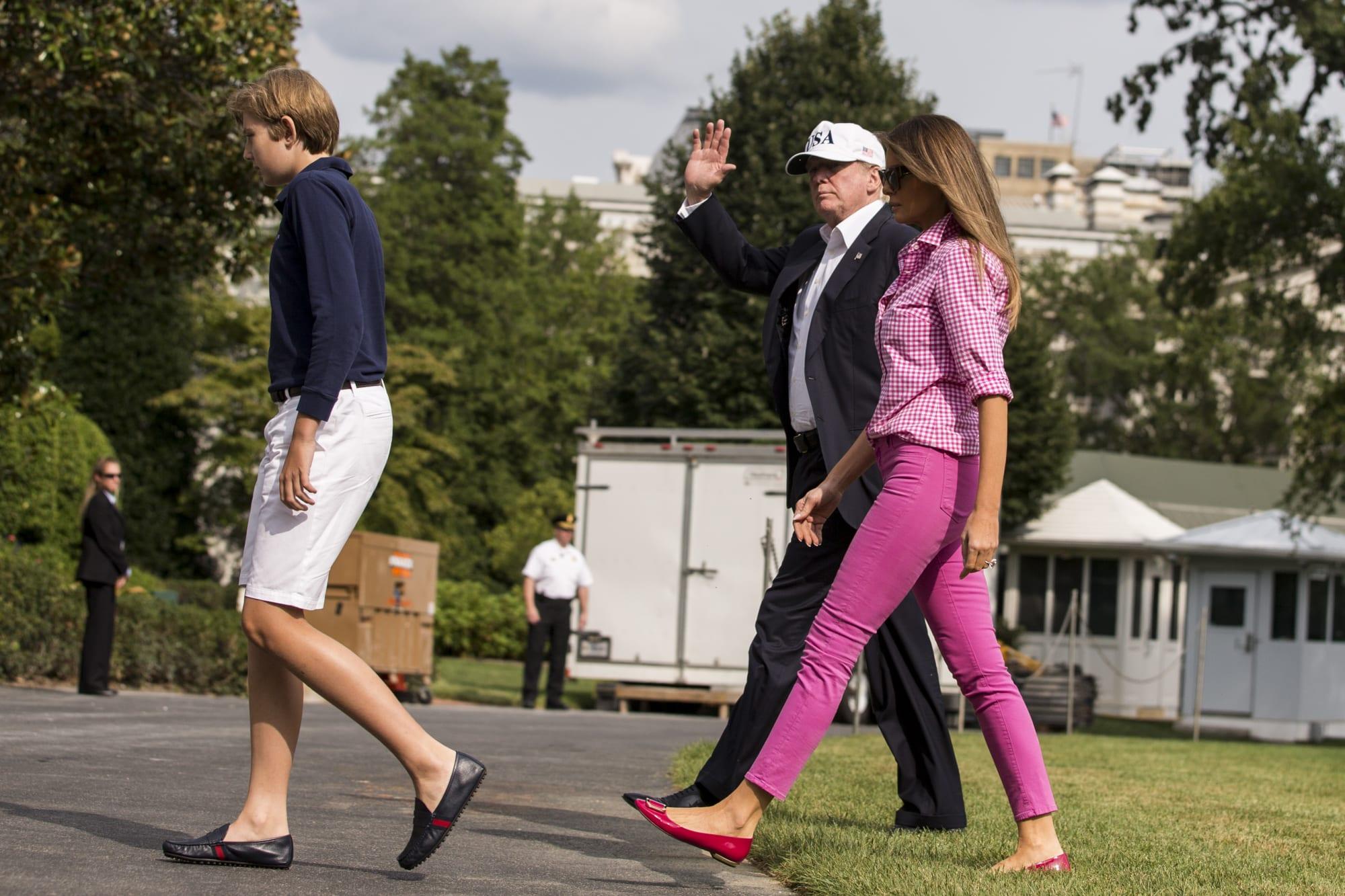 Trump White House Arrival