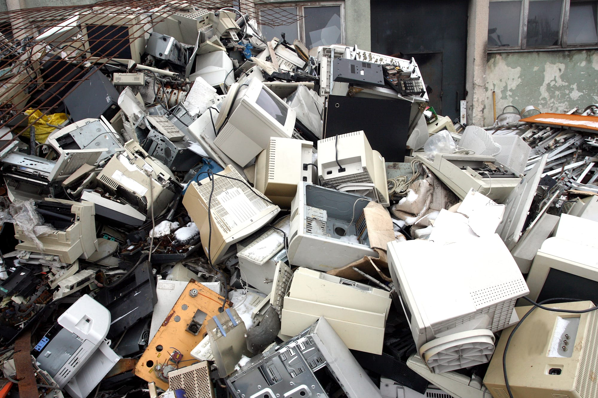 computer parts for electronic recycling