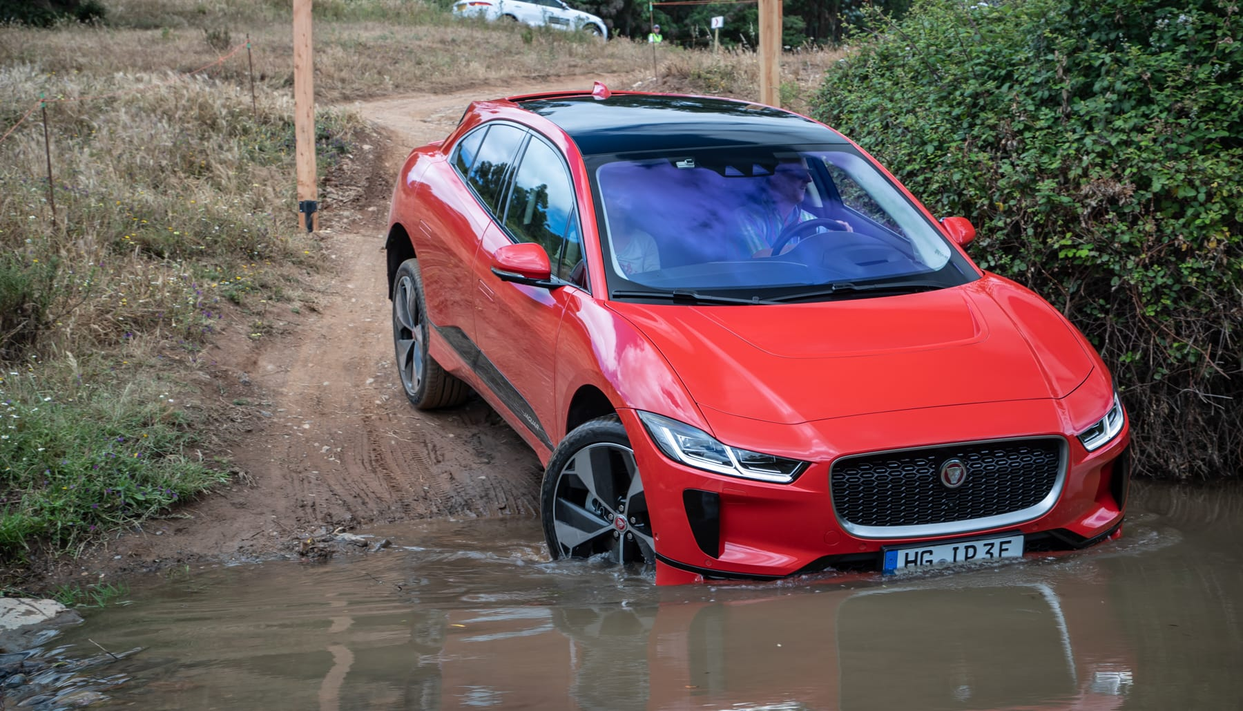 With That In Mind It Wasn T Surprising When The I Pace S All Wheel Drive System Was Able To Conquer A Rutted Steep Path Up Mountain