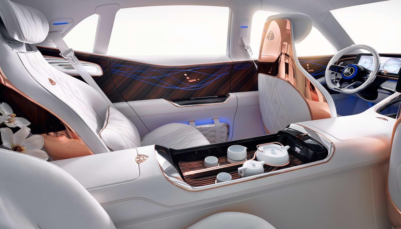 Maybach Ultimate Luxury Ev Brings Its Own Tea Service