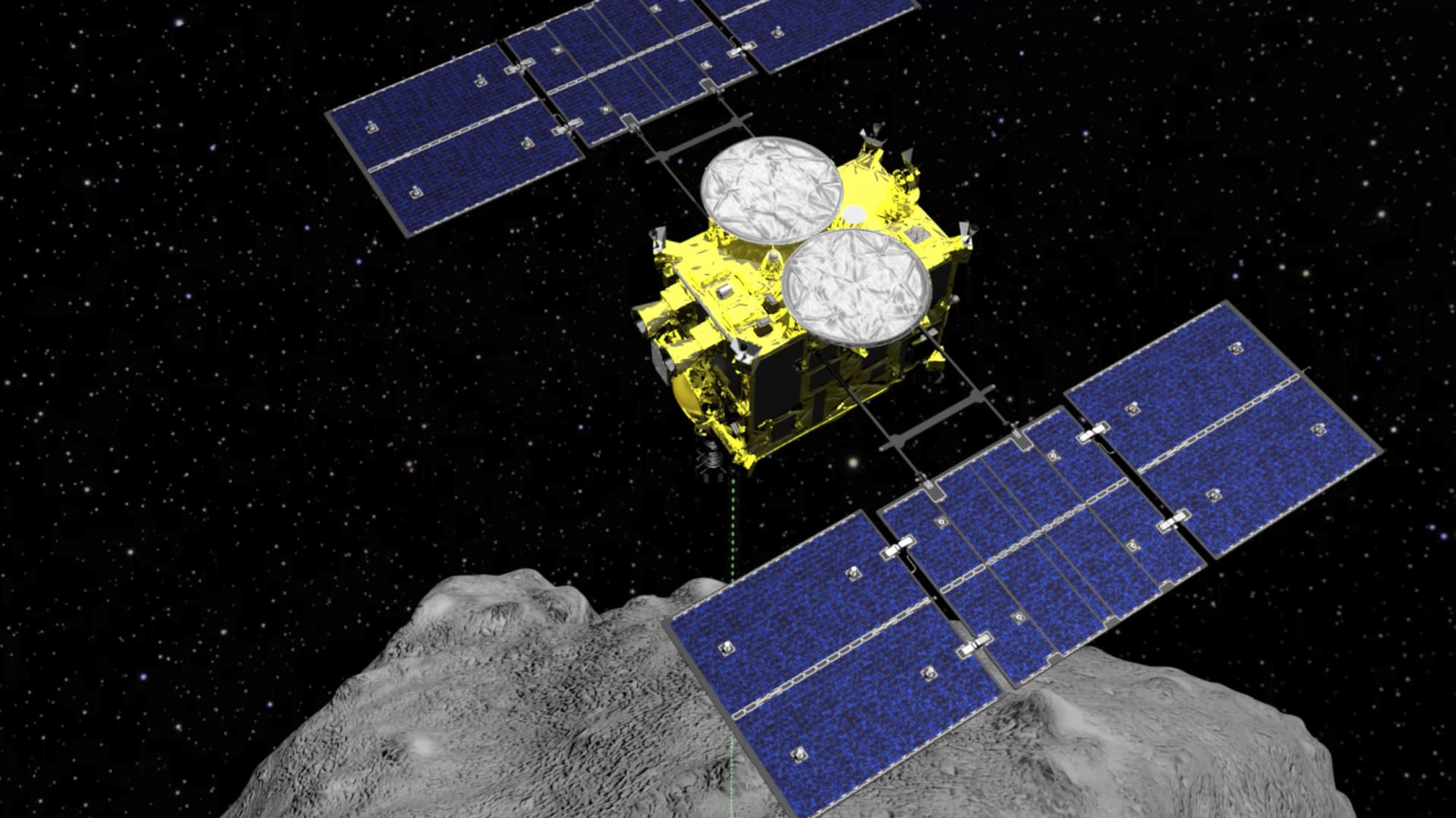 Japan's Hayabusa2 probe attempts its final asteroid landing at 9:15 PM ET