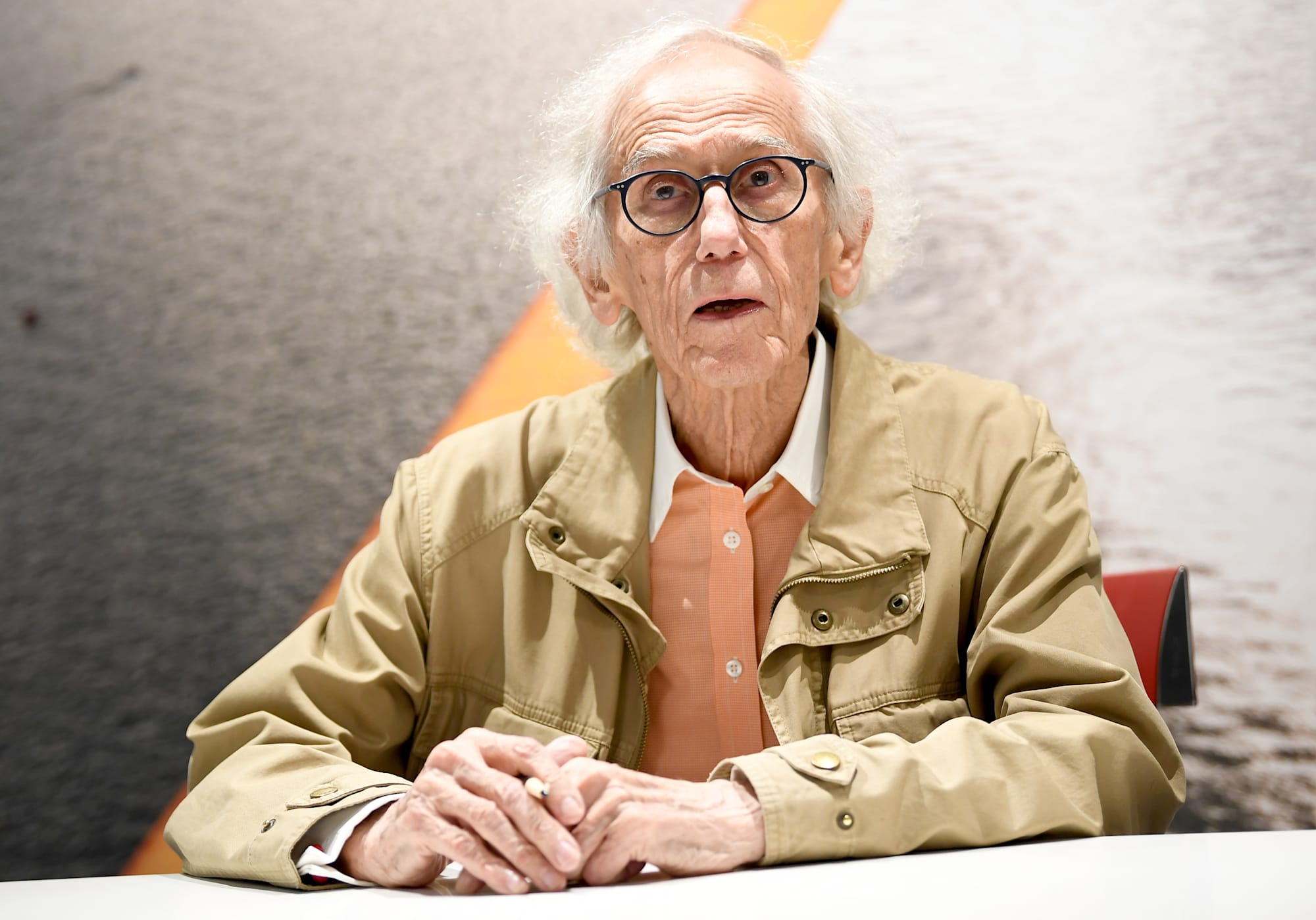 Wrapping artist Christo in Berlin