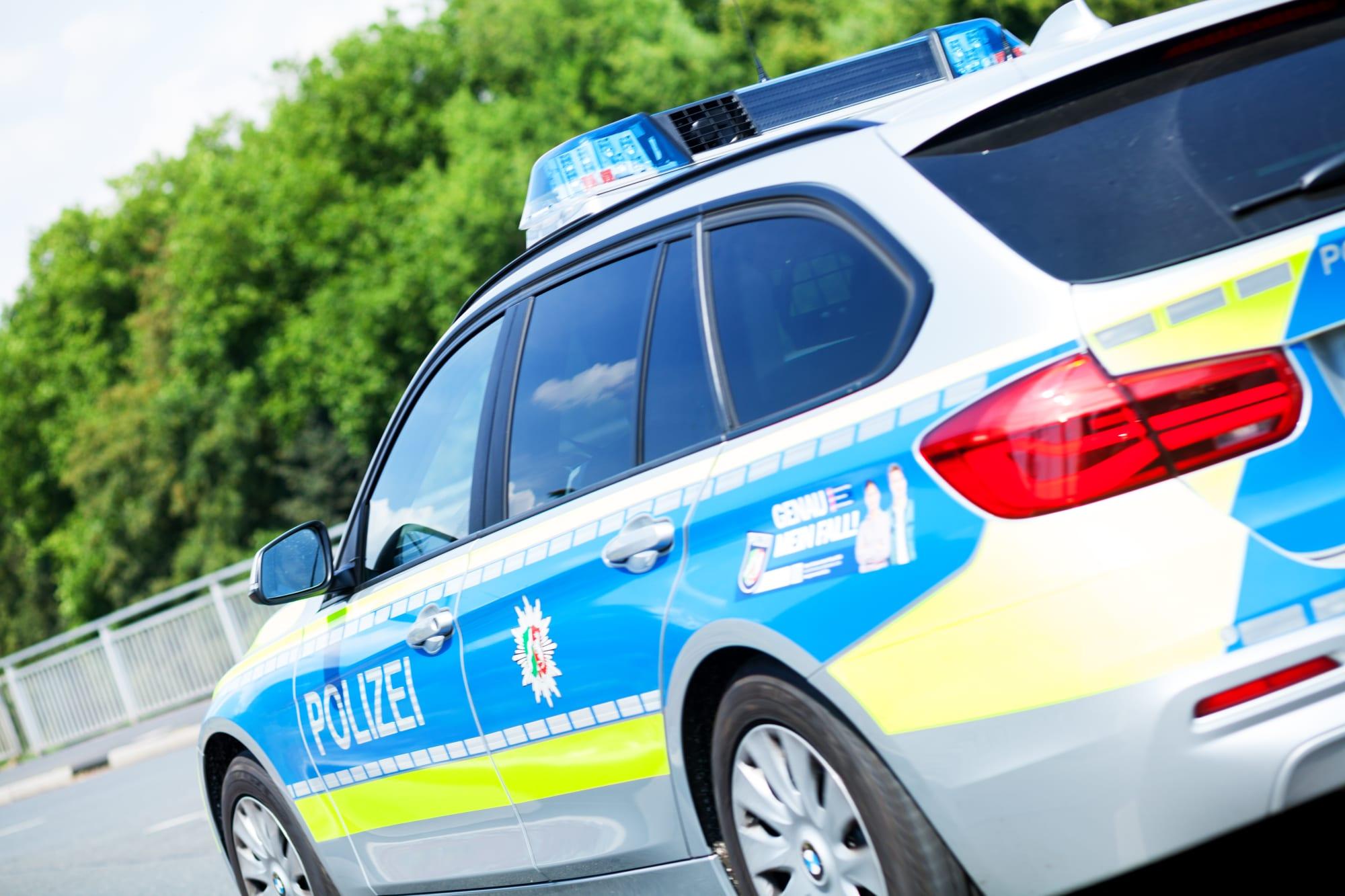 Passing German police car